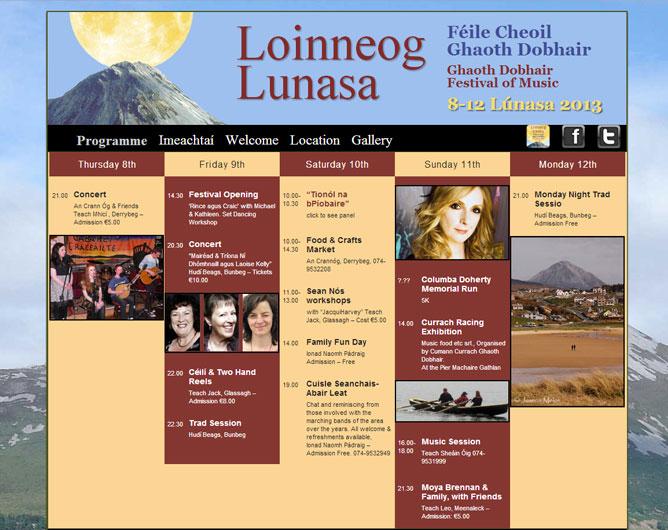 """Annual """"Loinneog Lúnasa"""" Music Festival"""